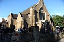 St Thomas More Catholic Church in Dulwich is a beautiful London wedding venue with a wonderfully embellished and evocative chancel with an accessible balcony for more pictures
