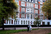 Situated next to Hyde Park and round the corner from Harrods is the stunning five Mandarin Oriental Hotel a London wedding venue with beautiful and grand and  luxurious rooms