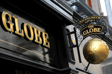 A picture of the popular, relaxed and welcoming city pub with it's intimate and bright upstairs wedding function room is The Globe, Moorgate