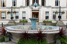 London wedding venue Wandsworth Register Office offers a variety of lovely wooden panelled rooms and corridors plus a 1930's art deco marble staircase and courtyard fountain